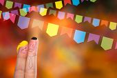 stock photo of carnival rio  - Festa Junina Party with this lovely finger couple - JPG