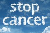 foto of causes cancer  - Amazing Stop Cancer text on clouds - JPG