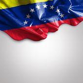 stock photo of bolivar  - Waving flag of Venezuela - JPG