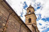 stock photo of bolivar  - Bogota Cathedral in Bolivar Square in Bogota - JPG