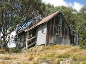 stock photo of bogong  - Cope Hut on the Bogong High Plains  - JPG