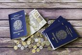 stock photo of brazilian money  - New Brazilian Passport - JPG