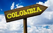 picture of bolivar  - Colombia wooden sign on a beautiful day - JPG