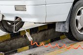 stock photo of car carrier  - Exhaust Gas Analyzers in transportation for car - JPG