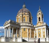 picture of turin  - The baroque Basilica di Superga church on the Turin hill Italy - JPG