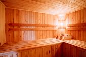 picture of sauna  - Interior Of The Sauna  - JPG
