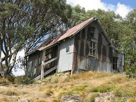 picture of bogong  - Cope Hut on the Bogong High Plains  - JPG
