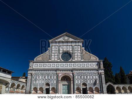 Facade Of The Basilica Of Santa Maria Novella, Florence, Italy