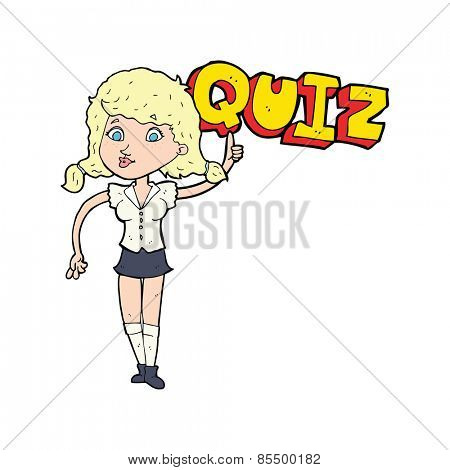 quiz sign cartoon