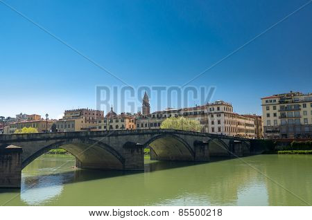 Ponte Alla Carraia Is A Five-arched Bridge Spanning The River