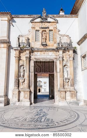 Entrance To Coimbra University