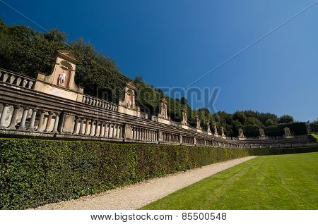 Antique Amphitheater In Boboli Gardens, Florence, Italy.