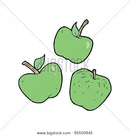 cartoon apples,