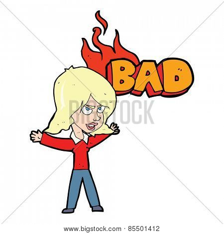 cartoon bad woman