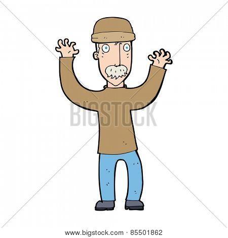 cartoon man wearing winter hat
