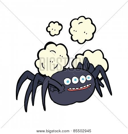 cartoon spooky halloween spider