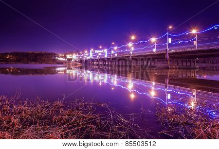 Night City Reflection On The River