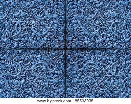 Abstract Scroll Blue Background Pattern