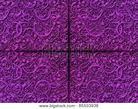 Abstract Scroll Purple Background Pattern