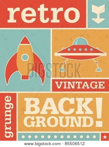 Retro Grunge Vector Background Image