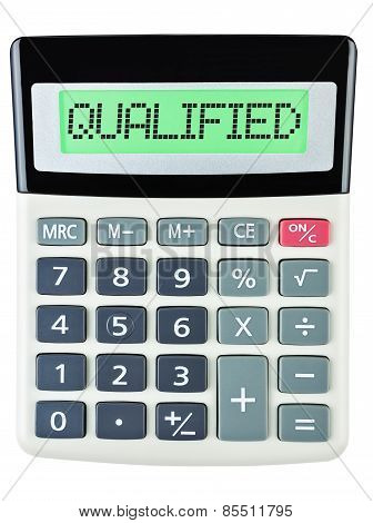 Calculator With Qualified