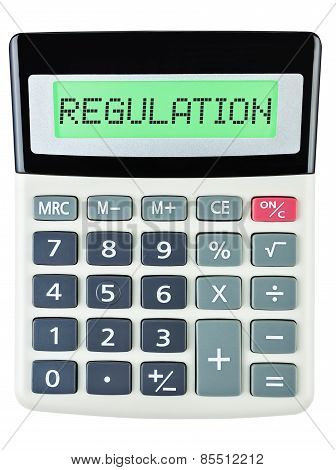 Calculator With Regulation