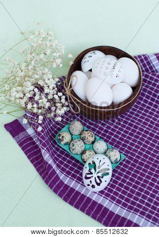 Set For Easter Eggs Decoration