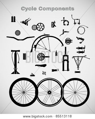 Cycle components.