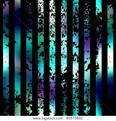 Grunge vertical strips on black background.