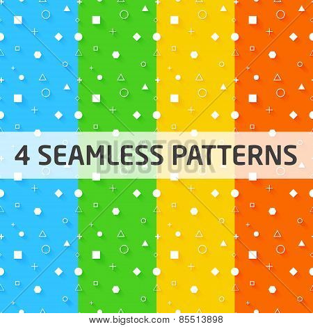 4 Seamless Vector Geometry Patterns