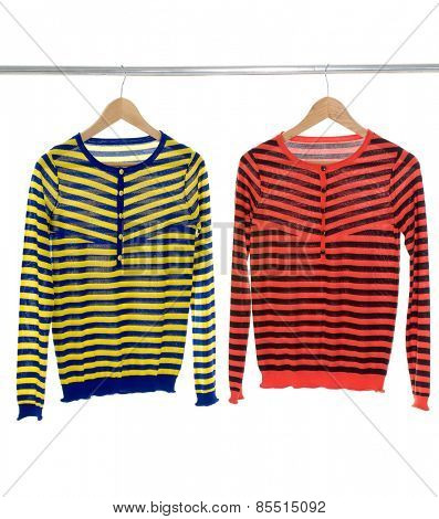 Two female clothing on hangers