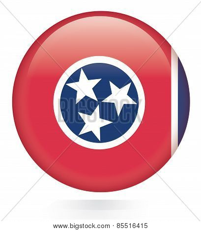 Tennessee State Flag glossy button