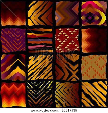 Exotic pattern in patchwork style.