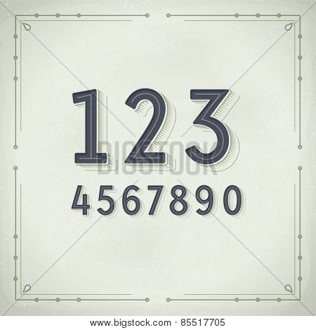 Vector Retro Digits