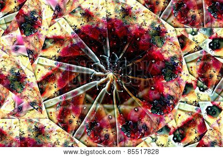 Abstraction Of Fruit Jelly Cake