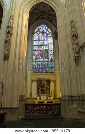 Stained Glass And  Picture In The Cathedral  The Dutch City Of Den Bosch