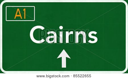 Cairns Australia Highway Road Sign