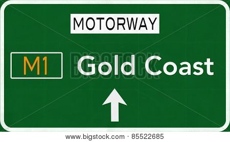 Gold Coast Australia Highway Road Sign