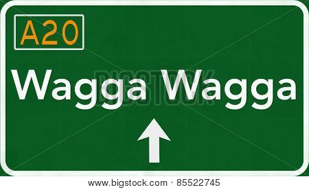 Wagga Wagga Australia Highway Road Sign