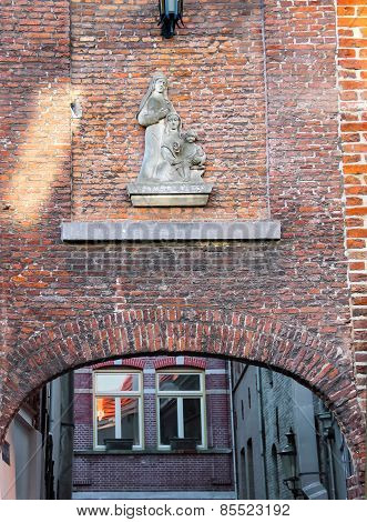 Bas-relief On The Wall In  Dutch City Of Den Bosch