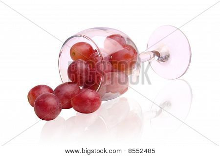 Red Grapes And Glass