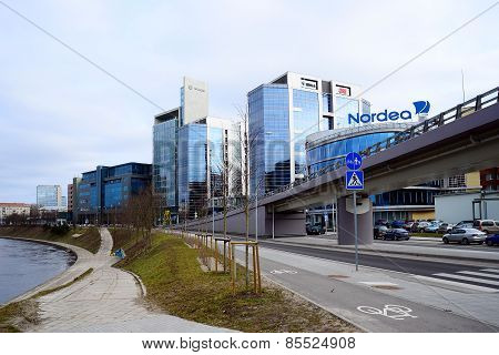 Vilnius City Houses In Centre On March 13, 2015