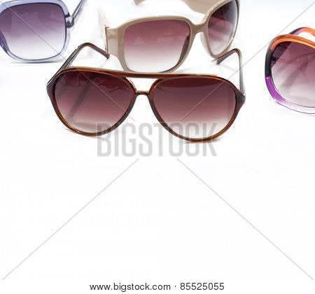 Set of Trendy sunglasses