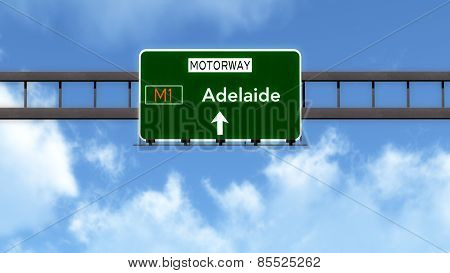 Adelaide Australia Highway Road Sign