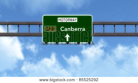 Canberra Australia Highway Road Sign