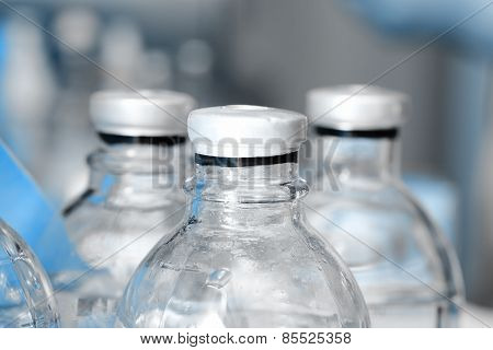 Medical Bottle In A Group In Storage