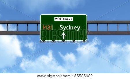 Sydney Australia Highway Road Sign
