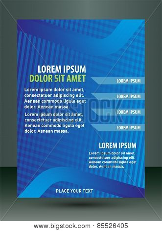 Blue Background Brochure leaflet