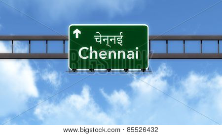 Chennai India Highway Road Sign