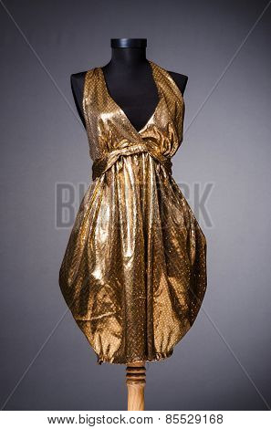 Golden sparkling dress